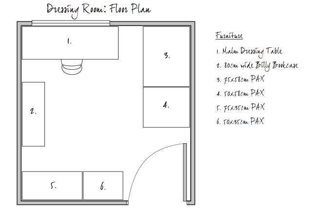 Dressing Room Floor Plan