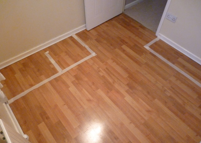 Dressing room floor