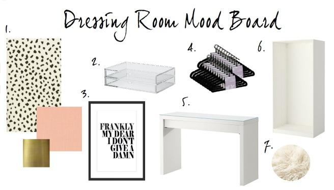 Dressing Room Mood Board