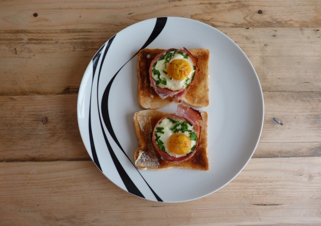 ham and egg baskets cooked
