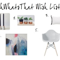 FRIDAY FIVE: 5 WISH LIST ITEMS FROM OHWHATSTHIS