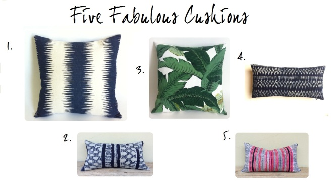 Five New Cushions