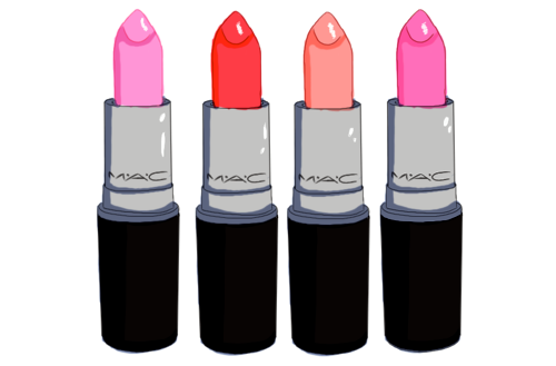 MAC lipsticks drawing