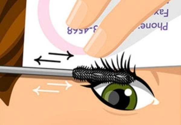 mascara business card trick