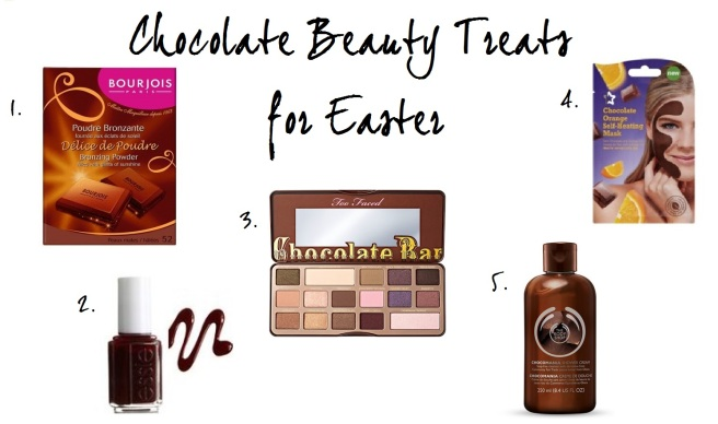 Chocolate beauty treats for Easter
