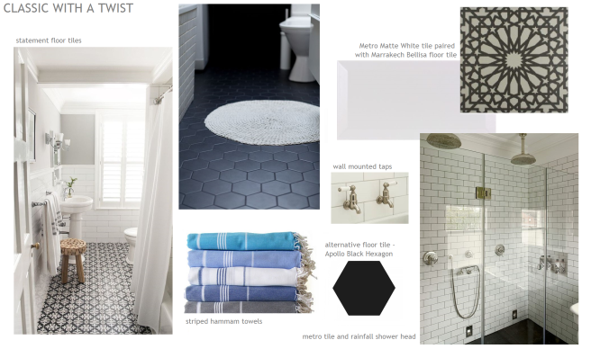 En-suite bathroom mood board