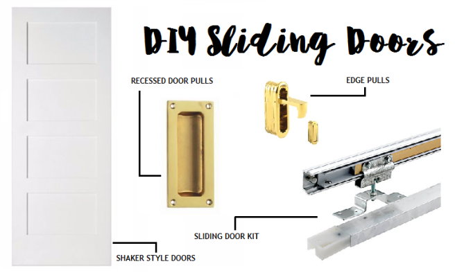 DIY Sliding Doors - what you need