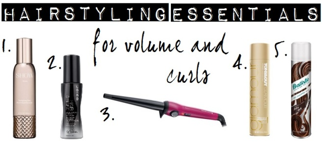 Hairstyling essentials for volume and curls