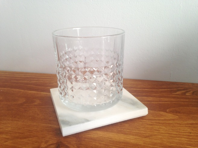 DIY Project - marble coaster in use