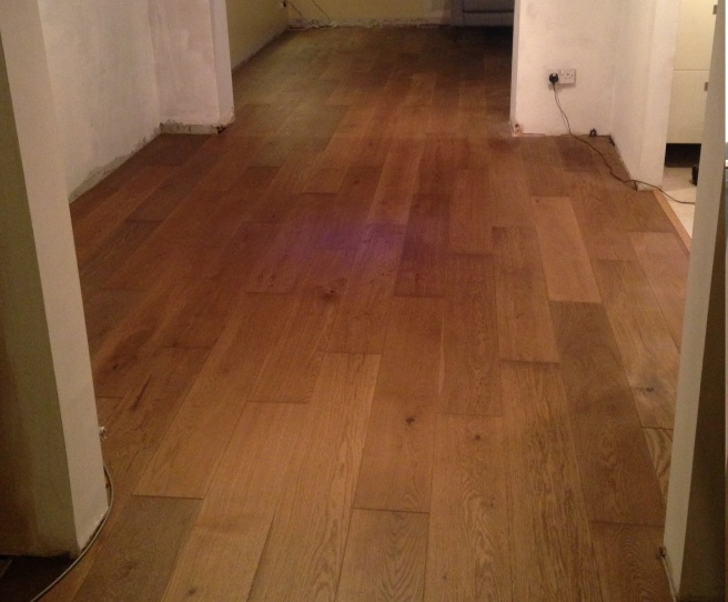 New flooring - Sotto Caramel Oak Real Wood Top Layer Flooring