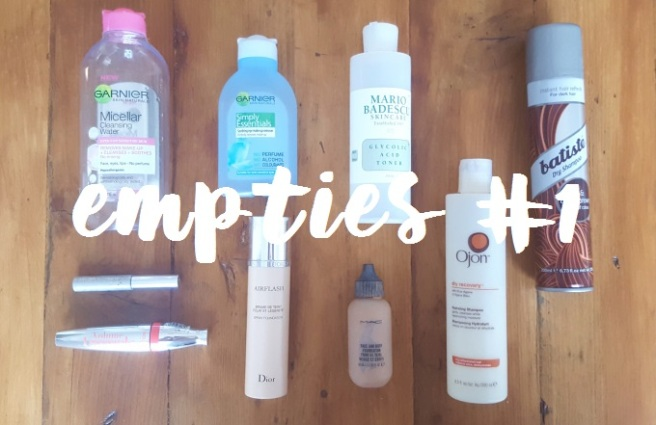 Empties - round up #1