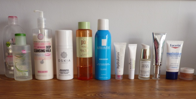 My Evening Skincare Routine products