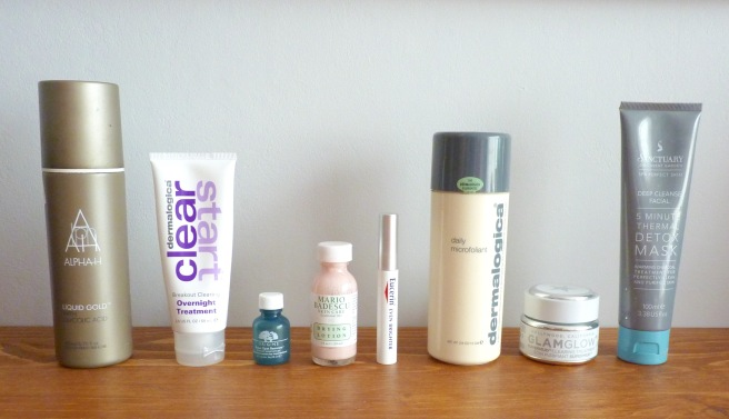 My current skincare routine - masks and treatments