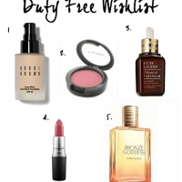 FRIDAY FIVE: DUTY FREE WISHLIST