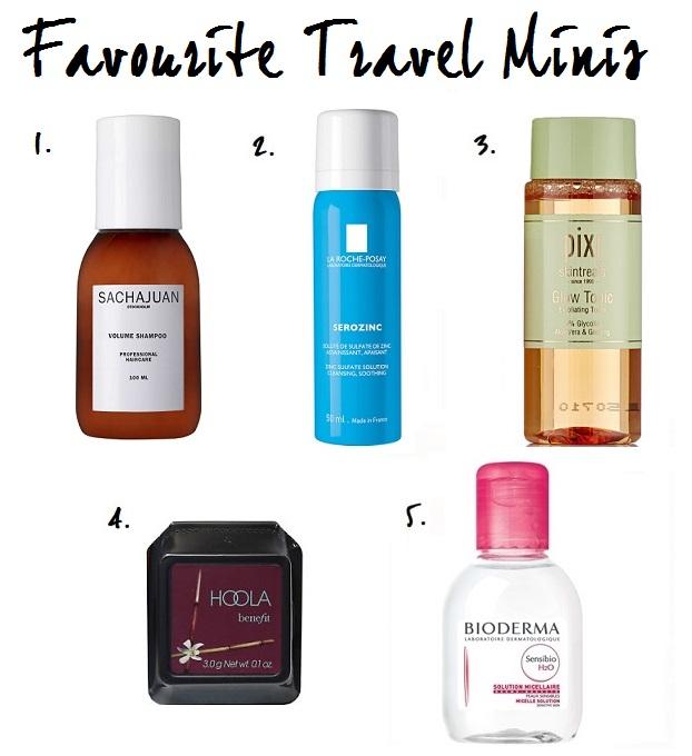 Favourite Travel Beauty Miniatures