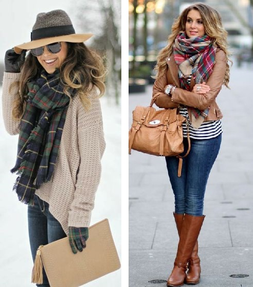 Autumn Style: Plaid Scarves