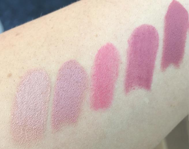 MAC Lipstick Swatches - Viva Glam Gaga 2, Blankety, Lustering, Plumful, Mehr