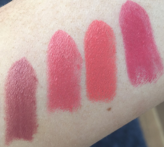 MAC Lipstick Swatches: Finally Free, Crosswires, Vegas Volt, Nice To Meet You