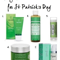 FRIDAY FIVE: GOING GREEN WITH SKINCARE FOR ST PATRICK'S DAY