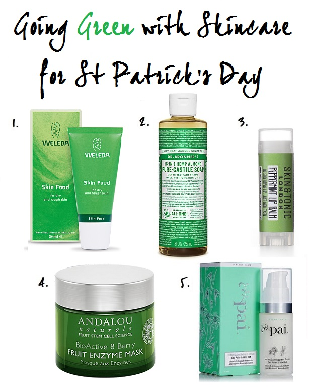 Green Skincare for St Patrick's Day