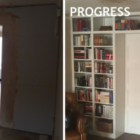 ONE ROOM CHALLENGE | WEEK TWO: IKEA HACK-ING THE BOOKCASE WALL