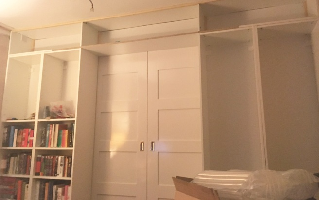 Bookcase Wall - skeleton completed