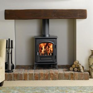 wooden beam mantlepiece