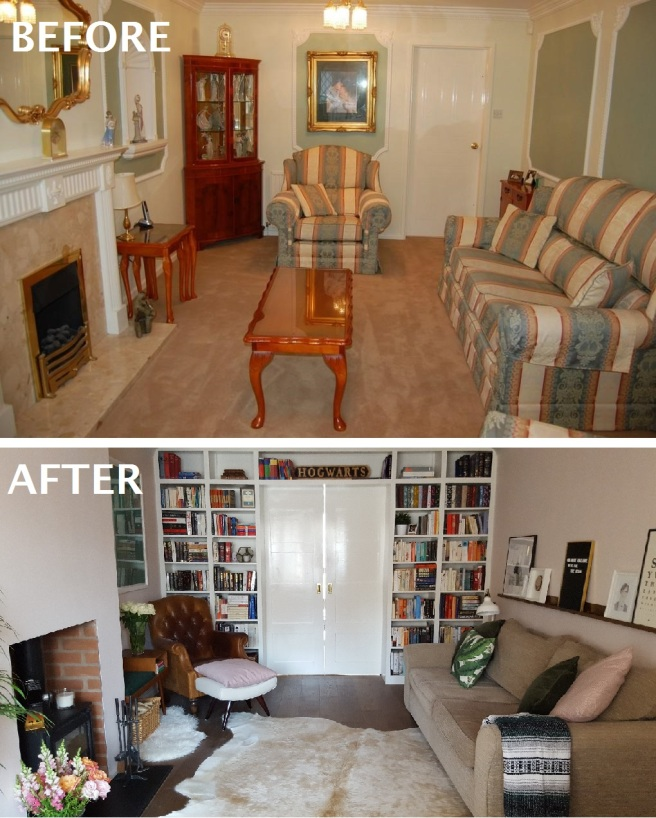 living room before and after 1