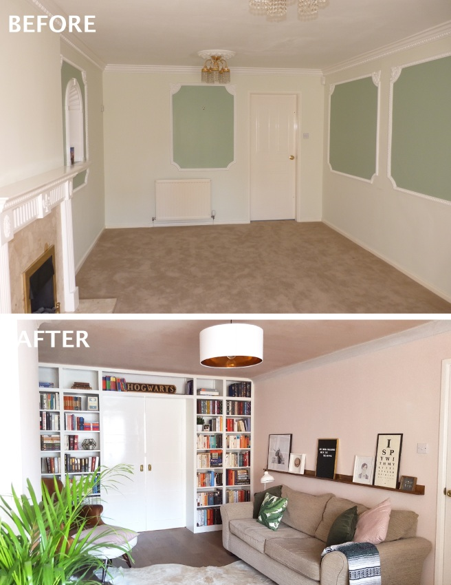 living room before and after 2