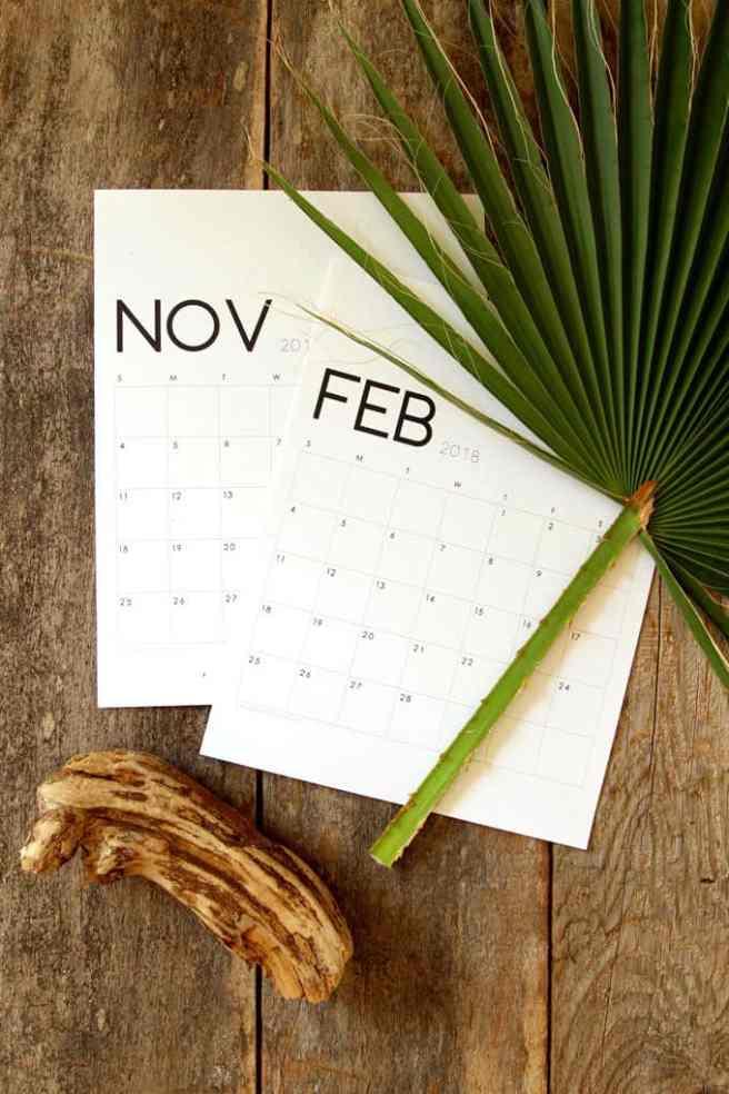 minimal 2018 calendar 3