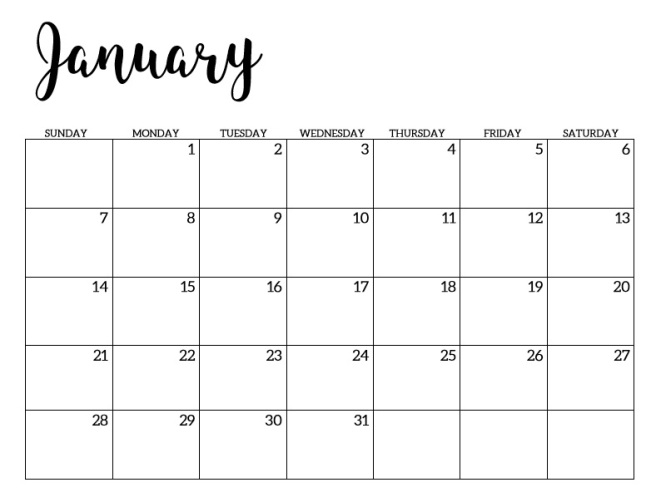 minimal 2018 calendar 5