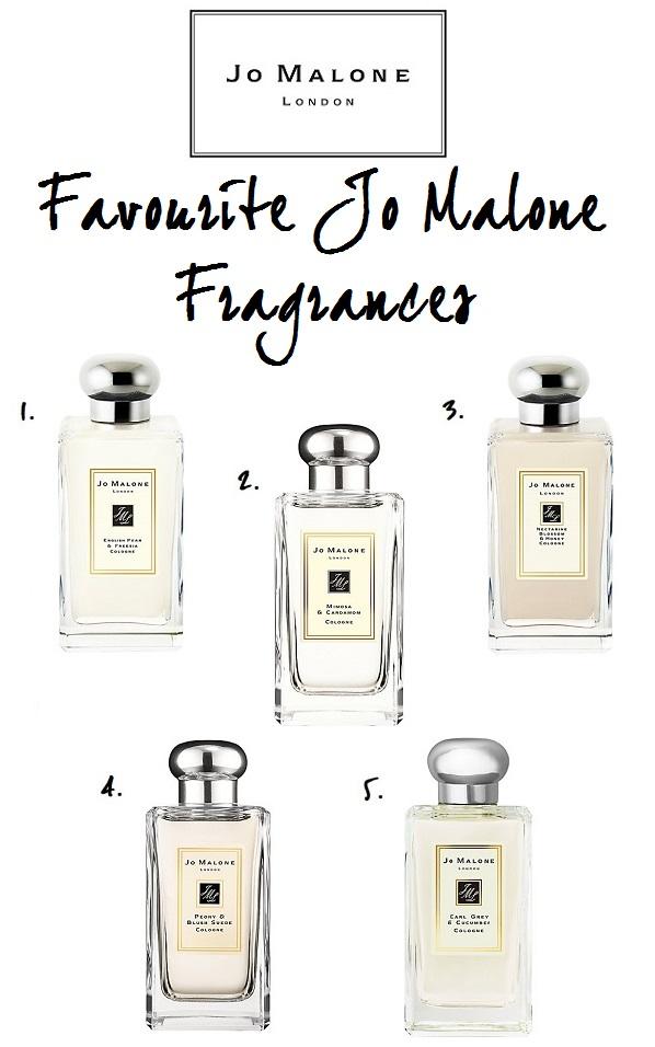 Top 5 Favourite Jo Malone Fragrances