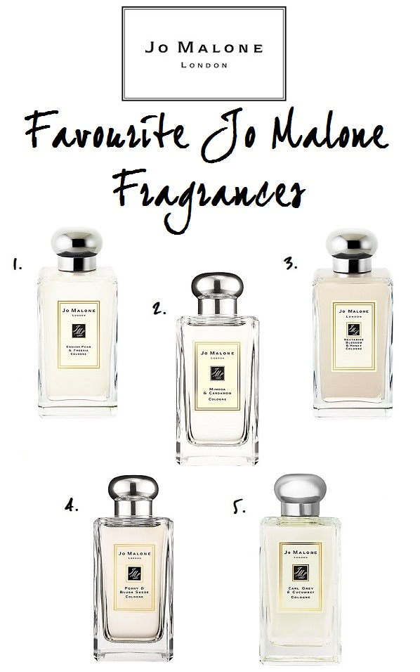 Top 5 Favourite Jo Malone Fragrances