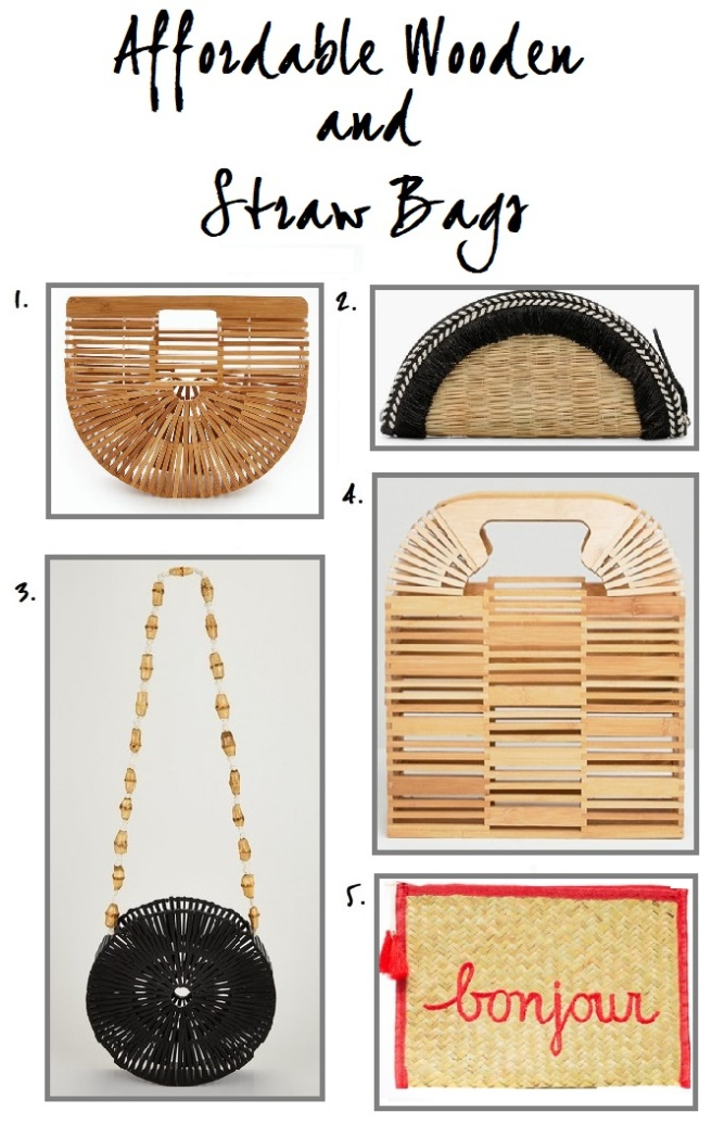 5 Affordable Wooden & Straw Bags