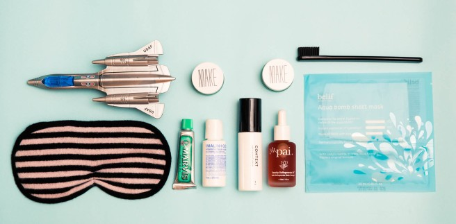 IN-FLIGHT BEAUTY ROUTINE