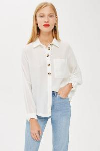 topshop-IVORY-Lightweight-Casual-Shirt